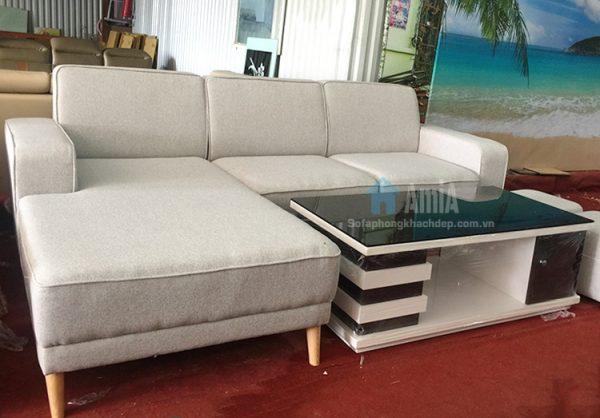 Hình ảnh Bộ ghế sofa nỉ phòng khách đẹp chụp tại Tổng kho AmiA