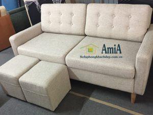 Hình ảnh Bộ ghế sofa văng nỉ đẹp 2 chỗ là mẫu ghế sofa mới tại Nội thất AmiA