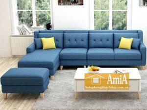 Hình ảnh Bộ sofa nỉ phòng khách đẹp hiện đại và sang trọng