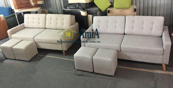 Hình ảnh Các mẫu sofa văng nỉ đẹp hiện đại giá rẻ bài trí tại Nội thất AmiA
