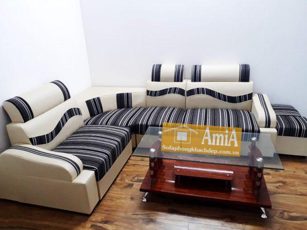 Hình ảnh ghế sofa da giá rẻ kích thước nhỏ xinh cho căn phòng khách đẹp