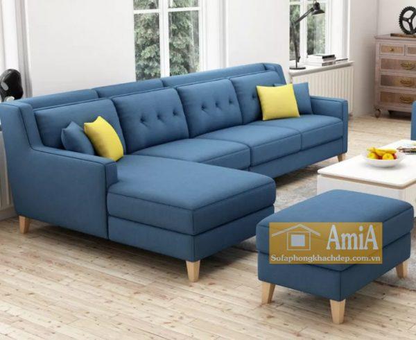 Hình ảnh Mẫu ghế sofa nỉ phòng khách đẹp hiện đại bài trí trong không gian căn phòng đẹp