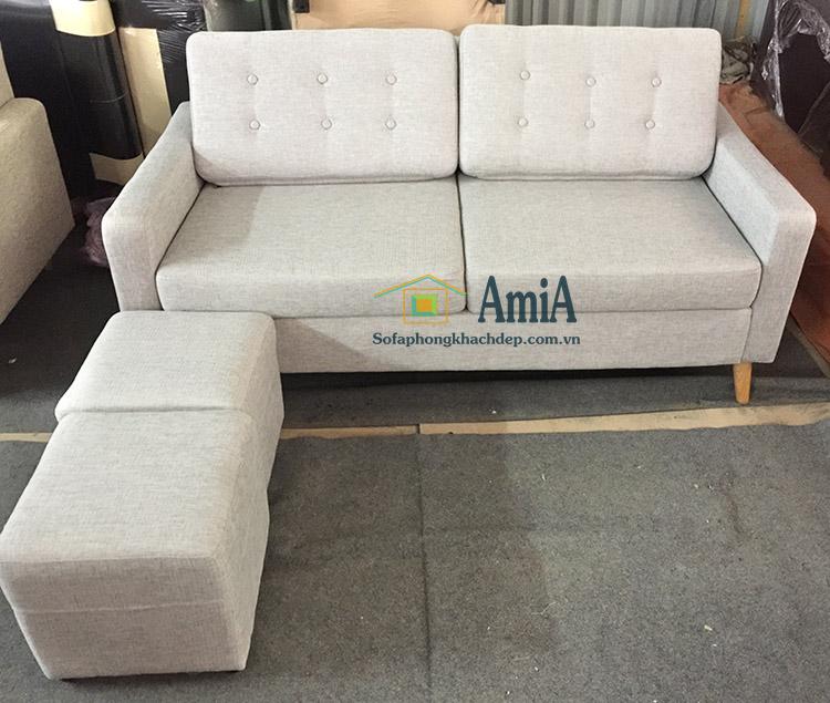 Hình ảnh Ghế sofa văng nỉ đẹp 2 chỗ cho phòng khách nhỏ gia đình
