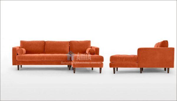 Hình ảnh sofa nỉ phòng khách với góc chụp tổng thể