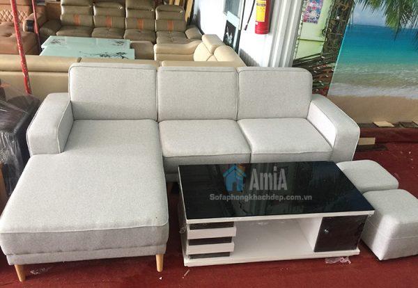 Hình ảnh Mẫu ghế sofa nỉ phòng khách đẹp chụp thực tế tại AmiA