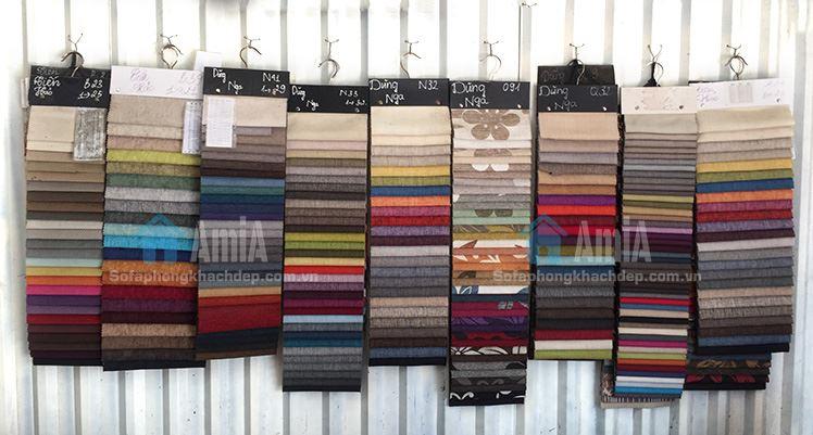 Hình ảnh Màu sắc chất liệu vải nỉ đặt làm theo yêu cầu tại Tổng kho Nội thất AmiA