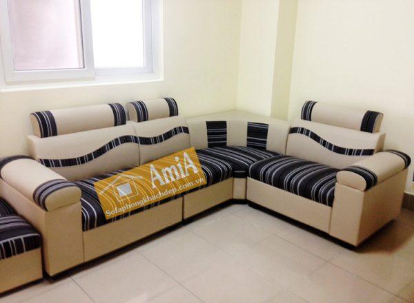 Hình ảnh Mẫu sofa da giá rẻ nhỏ xinh cho phòng khách gia đình
