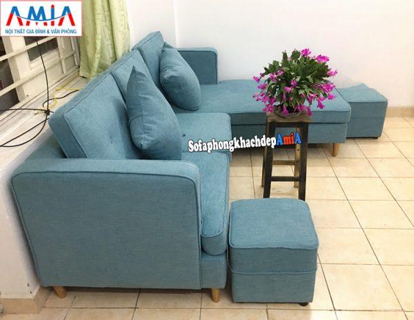 Hình ảnh Sofa nỉ đẹp cho phòng khách hiện đại nhà phố, nhà chung cư