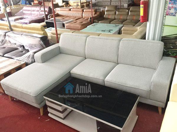 Hình ảnh Sofa nỉ phòng khách hình ảnh thực tế tại Tổng kho AmiA