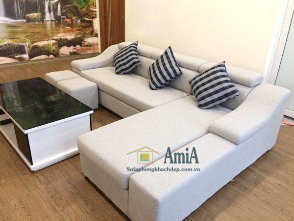 Hình ảnh Ghế sofa nỉ phòng khách hình chữ L hiện đại giá rẻ tại Hà Nội