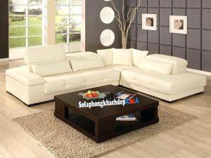 Hình ảnh Bàn gỗ sofa vuông kê phòng khách đẹp hiện đại AmiA BTR192