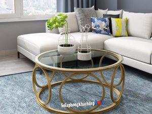 Hình ảnh Bàn kính sofa hiện đại cho phòng khách đẹp mê ly