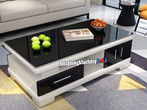 Hình ảnh Bàn sofa đẹp phòng khách chất liệu gỗ kính hiện đại và sang trọng