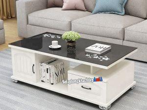 Hình ảnh Bàn sofa giá rẻ kê phòng khách đẹp hiện đại AmiA BTR185
