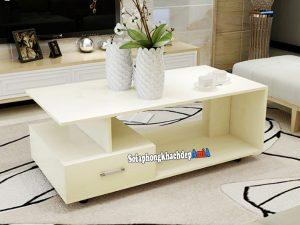 Hình ảnh Bàn sofa gỗ phòng khách đẹp màu trắng sữa AmiA BTR186