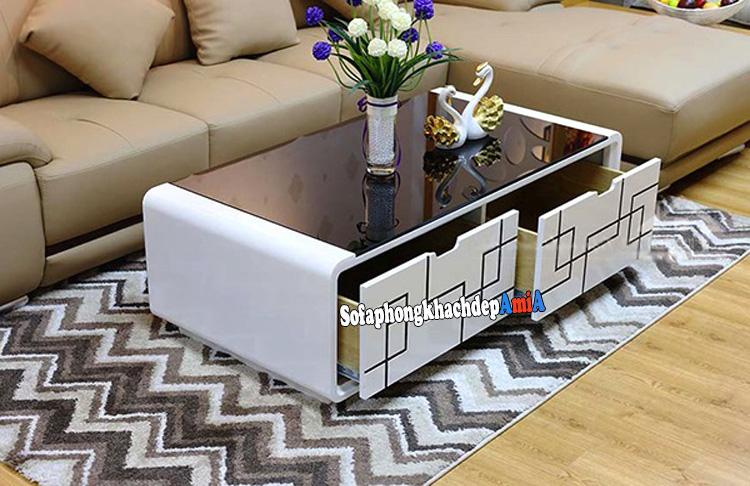 Hình ảnh bàn sofa hiện đại phòng khách đẹp AmiA BTR189