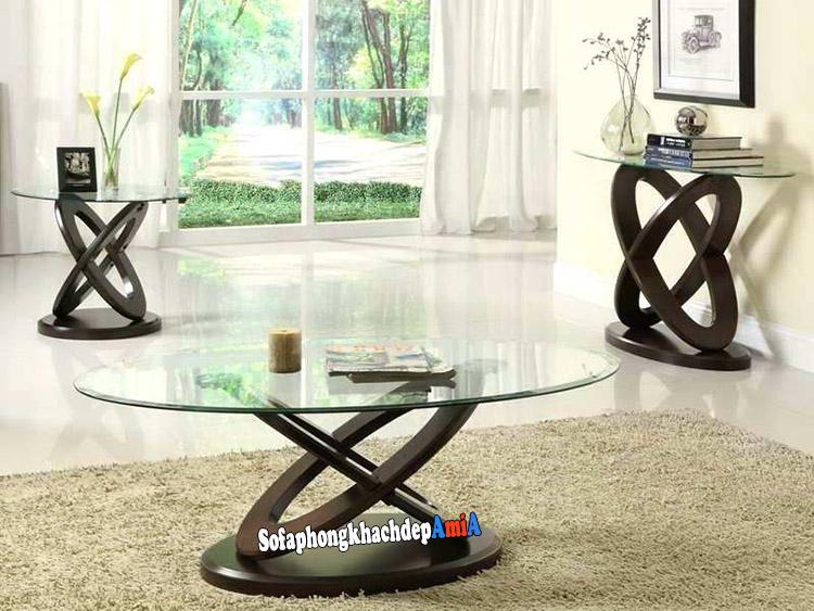 Hình ảnh Bàn sofa kính đẹp cho phòng khách hiện đại, sang trọng