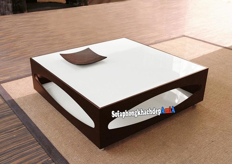 Hình ảnh Bàn sofa vuông nhỏ đẹp phòng khách nhỏ xinh AmiA BTR191