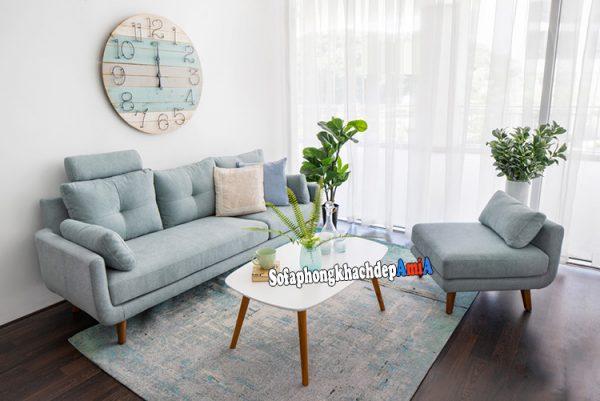 Hình ảnh Sofa nỉ đẹp giá rẻ cho phòng khách đẹp nhỏ xinh xắn