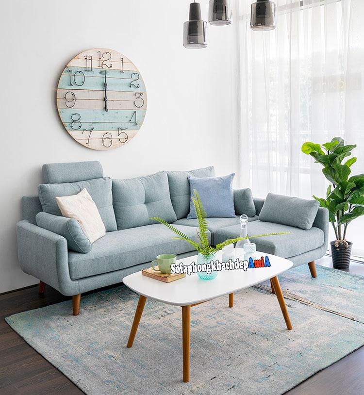 Hình ảnh Mẫu sofa nỉ đẹp ở Hà Nội cho phòng khách hiện đại với mẫu mã kiểu dáng mới lạ, độc đáo