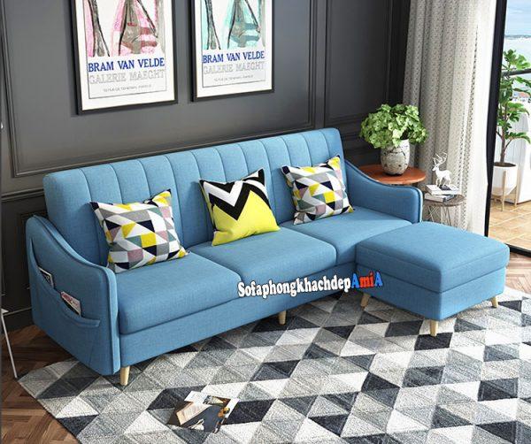 Hình ảnh Ghế sofa vải nỉ đẹp phòng khách kích thước nhỏ xinh cho phòng khách nhỏ, nhà nhỏ