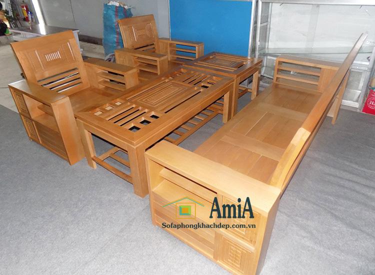 Hình ảnh Bàn ghế gỗ giá rẻ Hà Nội hình ảnh thực tế tại kho AmiA