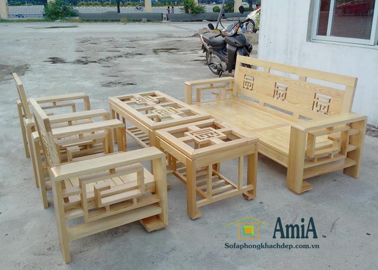 Hình ảnh Bàn ghế sofa gỗ đẹp giá rẻ Hà Nội