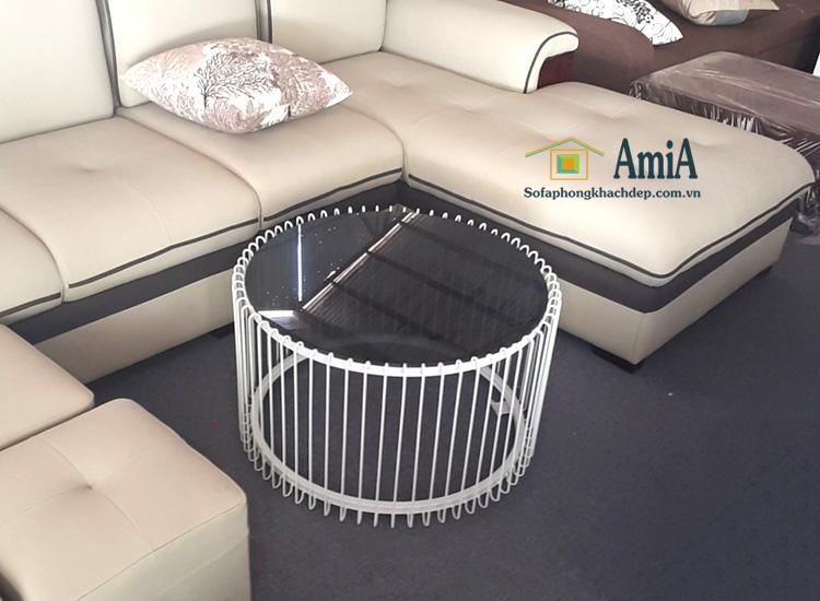 Hình ảnh Bàn trà sofa tròn chất liệu kính thiết kế độc đáo, mới lạ và rất thời thượng