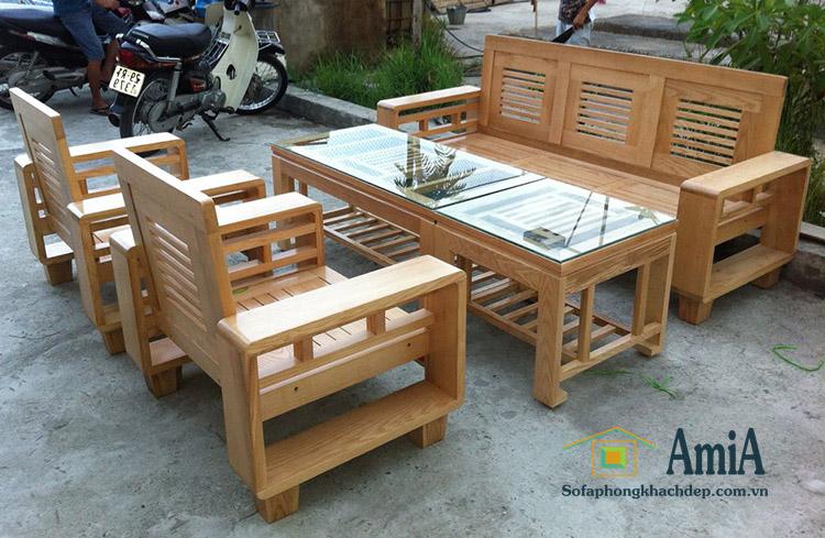 Hình ảnh Bộ bàn ghế gỗ đẹp giá rẻ tại Hà Nội