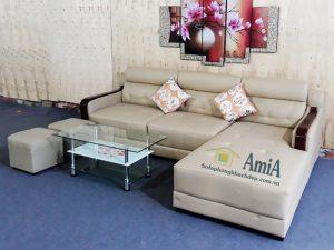 Hình ảnh Bộ ghế sofa da đẹp phòng khách hiện đại và sang trọng