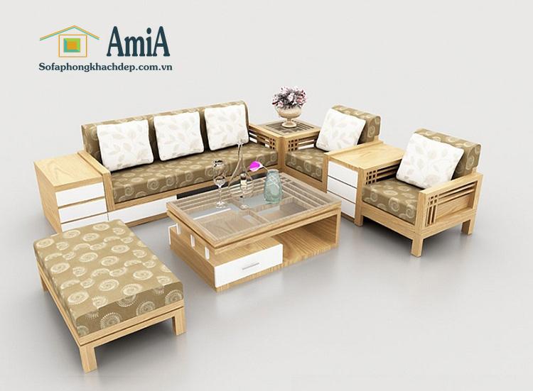 Hình ảnh Bộ ghế sofa gỗ đẹp hiện đại giá rẻ tại Hà Nội