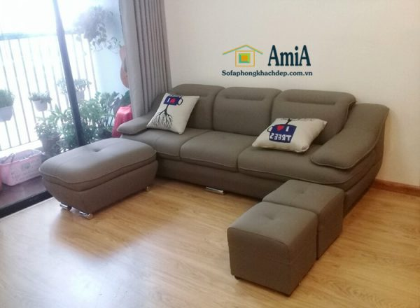 Hình ảnh Bộ ghế sofa văng da đẹp cho phòng khách nhà chung cư, chung cư nhỏ
