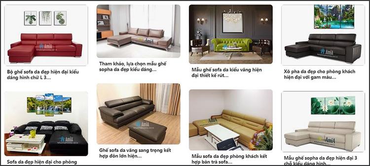 Hình ảnh Các mẫu sofa da phòng khách đẹp hiện đại và sang trọng