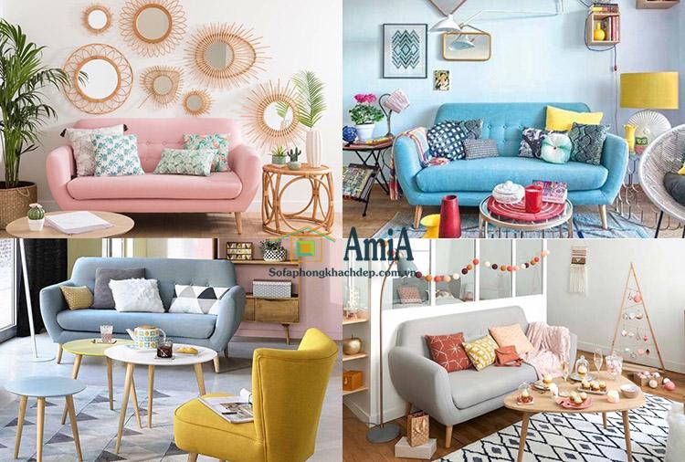 hình ảnh gam màu sắc sofa văng nỉ đẹp hiện đại bài trí trong căn phòng khách đẹp