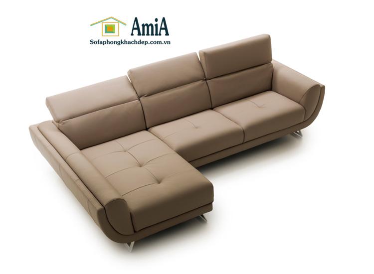 Hình ảnh Mẫu ghế sofa da cho phòng khách đẹp nhà phố, nhà chung cư
