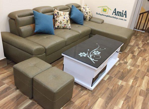 Hình ảnh Ghế sofa da đẹp cho phòng khách hiện đại
