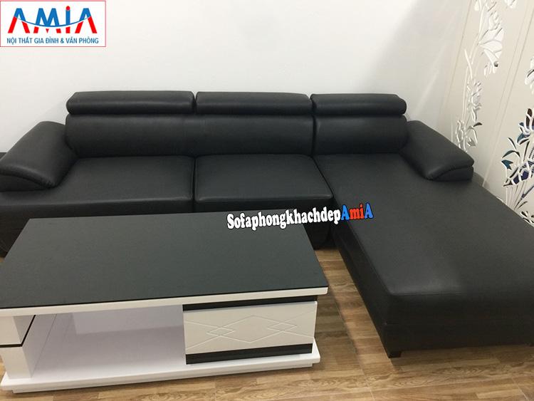 Hình ảnh Mẫu ghế sofa da đẹp cho phòng khách hiện đại thiết kế hình chữ L