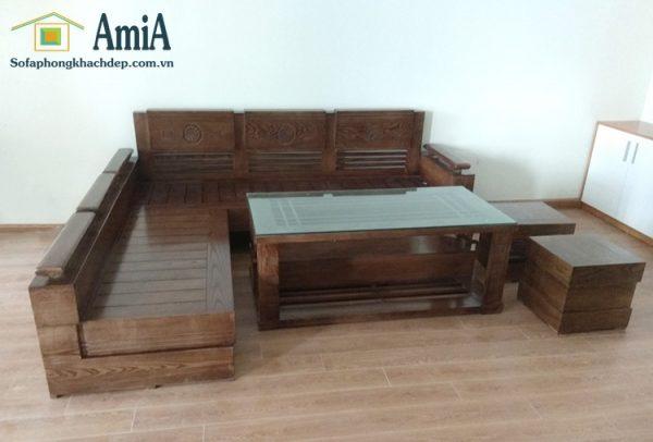 Hình ảnh Ghế sofa gỗ đẹp hiện đại giá rẻ chỉ có tại Nội thất AmiA