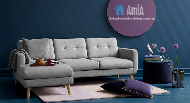 Hình ảnh Ghế sofa nỉ đẹp chữ L nhỏ xinh cho nhà nhỏ, nhà chung cư