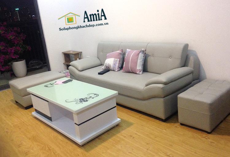 Hình ảnh Ghế sofa văng đẹp giá rẻ của AmiA với hình ảnh thực tế chụp tại nhà khách hàng