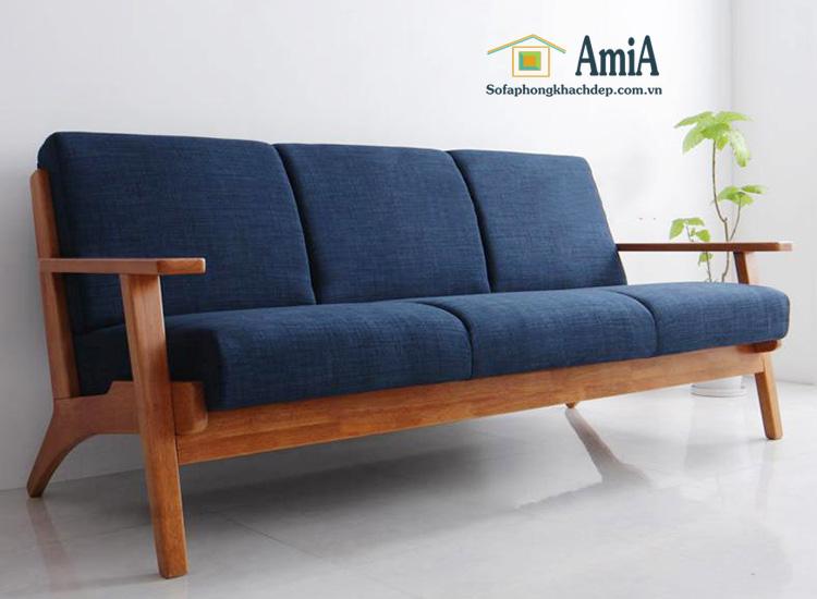 Hình ảnh Ghế sofa văng gỗ đẹp hiện đại và trẻ trung cho phòng khách gia đình Việt