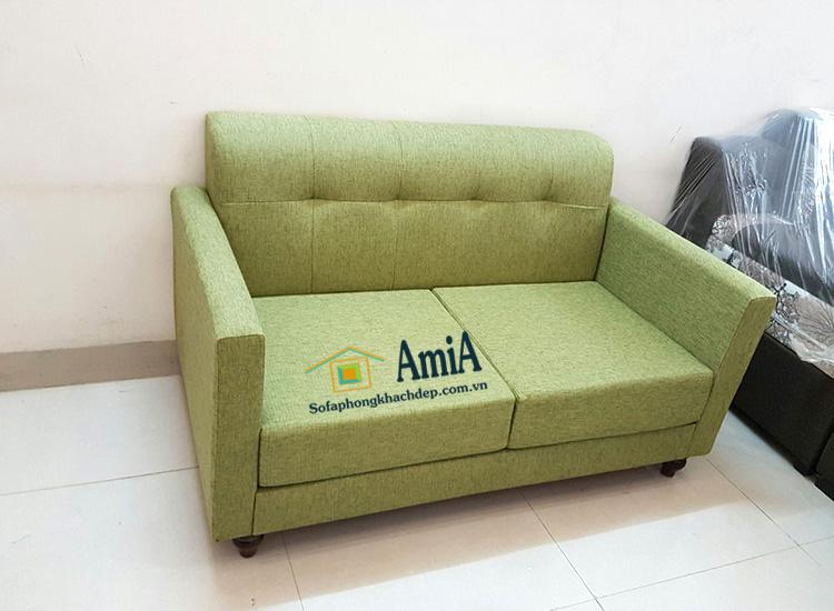 Hình ảnh Mẫu ghế sofa văng nỉ nhỏ mini cho nhà nhỏ, phòng khách nhỏ, chung cư mini