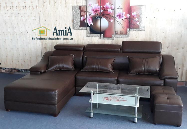 Hình ảnh Ghế sopha da phòng khách đẹp chụp tại Nội thất AmiA