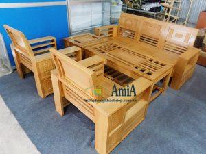 Hình ảnh bàn ghế sofa gỗ giá rẻ tại Hà Nội vừa đẹp vừa hiện đại