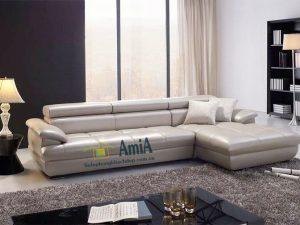 Hình ảnh Mẫu ghế sofa da đẹp bài trí trong phòng khách hiện đại