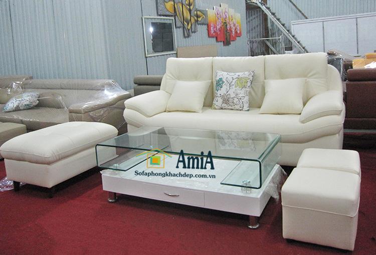 Hình ảnh ghế sofa văng da đẹp hiện đại và sang trọng cho phòng khách gia đình