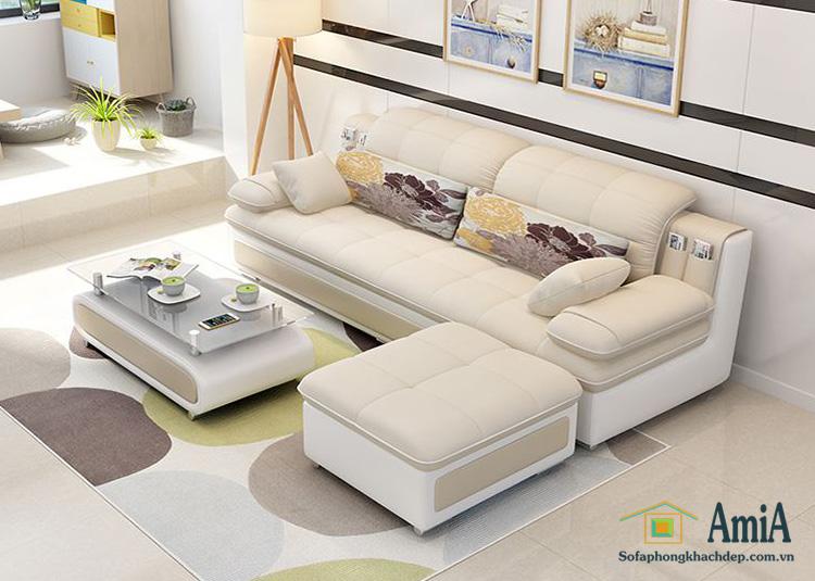 Hình ảnh sofa văng đẹp hiện đại cho phòng khách đẹp gia đình với gam màu nhã nhặn