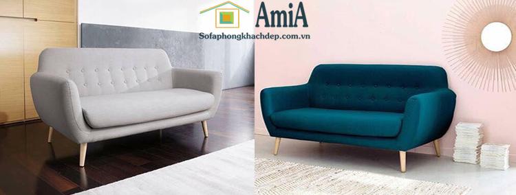 Hình ảnh Mẫu ghế sofa văng đẹp rút khuy với kích thước nhỏ xinh xắn