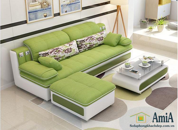 Hình ảnh Mẫu ghế sofa văng nỉ đẹp giá rẻ tại Hà Nội