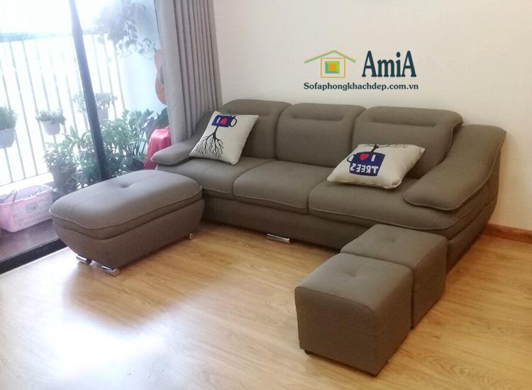 Hình ảnh Mẫu sofa văng da đẹp hiện đại cho phòng khách nhà chung cư